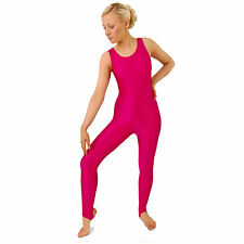 Girls/Ladies Roch Valley Nylon Lycra Sleeveless Catsuit (L108)