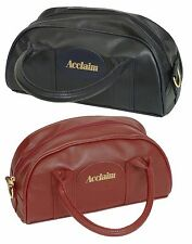 ACCLAIM Cwmbran Classic Two Bowl Bag Handles Zip Leather Look Shoulder Strap