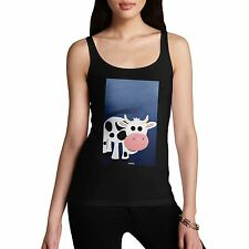 Twisted Envy Women's Fat Cow 100% Organic Cotton Tank Top