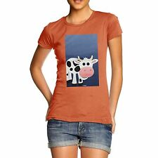 Twisted Envy Women's Fat Cow 100% Organic Cotton T-Shirt