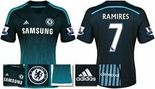 *14 / 15 - ADIDAS ; CHELSEA 3rd KIT SHIRT SS + PATCHES / RAMIRES 7 = SIZE*