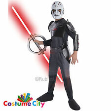 Official Disney Star Wars Rebels Inquisitor Childs Boys Fancy Dress Costume