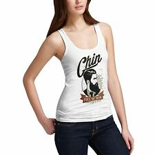 Twisted Envy Women's Chin Full Of Win Beard 100% Organic Cotton Tank Top