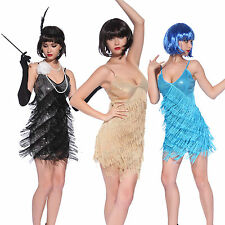 Sexy Donna Cosplay Costume Carnevale 1920s Chicago Charleston + Frange Paillette