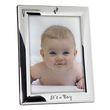 NEW SILVER PLATED PHOTO FRAME PICK FROM 7 DESIGNS BIRTH CHRISTENING ETC FREE P&P