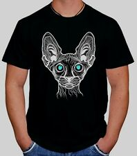 SPHINX CAT ILLUMINATI TUMBLR SWAG DOPE HIPSTER HYPE SKATE UNISEX  BLACK T-SHIRT