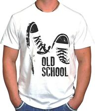 OLD SCHOOL RAP HIP-HOP TUMBLR SWAG DOPE HIPSTER HYPE SKATE WHITE UNISEX T-SHIRT