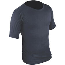 HIGHLANDER SHORT SLEEVE THERMAL BASE LAYER SHIRT MENS HIKING TOP VEST NAVY BLUE