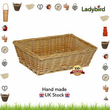 Lakeside Wicker Storage Basket Tray Food Hamper Bread Fruit Willow Large Small