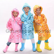 Gurumantras Imported Kids Boys and Girls School Rain Coat Wear With Cap and Bag
