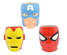 MARVEL COMICS OFFICIAL 3D SUPERHERO COFFEE MUG SPIDERMAN IRONMAN CAPTAIN AMERICA