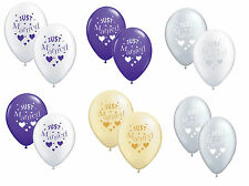 Just Married 10 Wedding Balloons Suitable for Air/Helium Various Colours