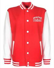 BNWT ADULT UNISEX GAME OF THRONES WINTER IS COMING VARSITY JACKET SIZE XS-XXL