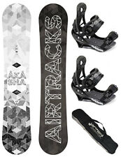 SNOWBOARD SET AIRTRACKS TABLA NEPTUNE ROCKER CARBON+FIJACIONES+BAG/158 160/NUEVO
