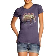 Twisted Envy Women's Get Out Of My Way Marching Elephant Organic Cotton T-Shirt