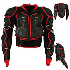 Motocross Motorbike Body Armour Motorcycle Spine Protector Guard Jacket RED/BLK
