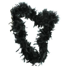 BLACK 65G FEATHER BOA BURLESQUE 1920'S FANCY DRESS COSTUME ACCESSORY HEN NIGHT