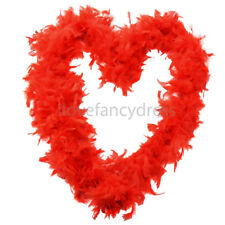 RED 65G FEATHER BOA BURLESQUE 1920S FANCY DRESS COSTUME ACCESSORY HEN NIGHT