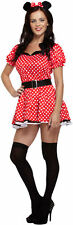 WOMENS SEXY MOUSE MINNIE MOUSE ANIMAL ADULTS RED  RED COSTUME FOR FANCY DRESS