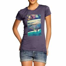 Twisted Envy Women's Galactic Dive 100% Organic Cotton T-Shirt