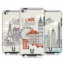 HEAD CASE DESIGNS DOODLE CITIES SERIES 1 CASE FOR APPLE iPOD TOUCH 4G 4TH GEN