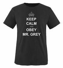 Comedy Shirts - KEEP CALM AND OBEY MR. GREY - Herren T-Shirt   Shades of Grey