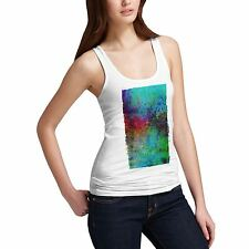 Twisted Envy Women's Abstract Painting 100% Organic Cotton Tank Top