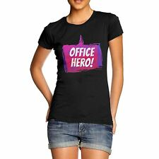 Women Motivational Message Print Office Hero T-Shirt