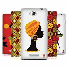 HEAD CASE AFRICAN PATTERN SERIES 1 SILICONE GEL CASE FOR SONY XPERIA C C2305