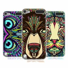 HEAD CASE AZTEC ANIMAL FACES SERIES 1 GEL CASE FOR APPLE iPOD TOUCH 5G 5TH GEN