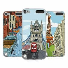 HEAD CASE DOODLE CITIES SERIES 2 GEL CASE FOR APPLE iPOD TOUCH 5G 5TH GEN