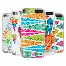 HEAD CASE GEOMETRIC FEATHERS SILICONE GEL CASE FOR APPLE iPOD TOUCH 5G 5TH GEN