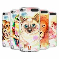 HEAD CASE WATERCOLOURED ANIMALS GEL CASE FOR APPLE iPOD TOUCH 5G 5TH GEN