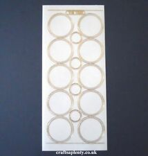 10 X Sheets Circle Toppers/Shapes Transparent Gold Silver Peel Offs Stickers