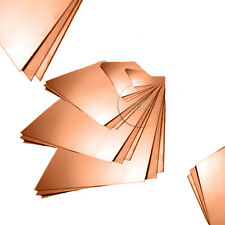 Copper Sheet Plate Metal 0.5mm, 0.7mm, 0.9mm, 1.2mm Options Guillotine Cut
