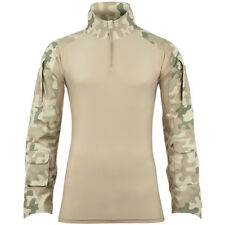 Helikon Army Tactical Mens Combat Shirt + Elbow Pads Airsoft Polish Desert Camo