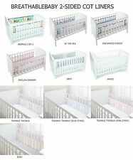 Breathable Baby 2-Sided Mesh Cot Bed Airflow Cot Bumper 12 Design Breathablebaby