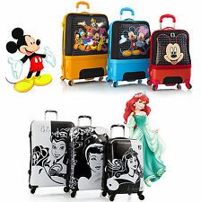 Disney Princess Mickey Minnie Hardcase Expandable Suitcase Luggage Travel 3 Set