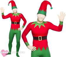 ELF SKIN SUIT ALL IN ONE WITH HAT CHRISTMAS HELPER SKINSUIT FANCY DRESS COSTUME