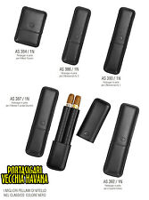 PORTASIGARI CIGAR CASE PELLE VITELLO NERO FB AS384 AS386 AS387 AS390 AS392 VARIE