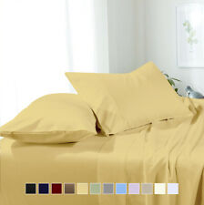 Attached Waterbed Super Soft & Wrinkle-Free Solid Microfiber Sheet Set