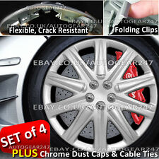 Universal Crack Resistant, Folding Clips Car Wheel Trims Hub Covers Set of 4. BS