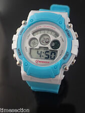 MONTRE ENFANT SPORT DIGITALE  / ETANCHE / CHRONO ALARME OUTDOOR LCD QUARTZ