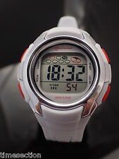 MONTRE ENFANT SPORT DIGITALE  / ETANCHE / CHRONO ALARME OUTDOOR LCD QUARTZ BLANC