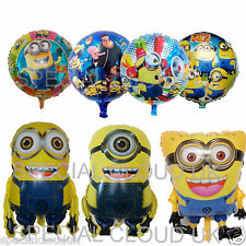 Despicable Me Minion Round Large Foil Shape Balloon Helium Kids Party Birthday