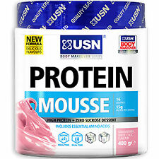 USN PROTEIN MOUSSE 480G HIGH PROTEIN DESSERT MEAL REPLACEMENT LOW CARB & FAT