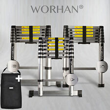 WORHAN® 2m Telescopic Single Ladder Multi Purpose Extendable Aluminium Ladders