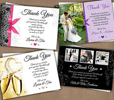 Personalised Wedding Thank You Cards BIGGER THAN A6
