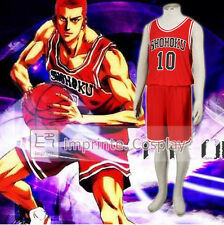 Slam Dunk Shohoku High No.10 Sakuragi Red Uniform Cosplay Costume FREE P&P