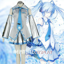Vocaloid Snow Miku Hatsune Miku Cosplay Costume Full Set FREE P&P